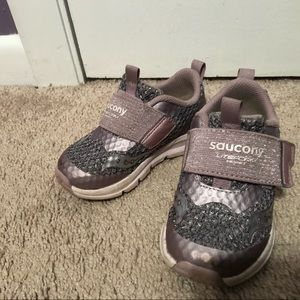 Light purple Saucony sneakers toddler size 7